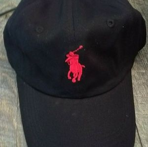 New.Men's Black Polo RL With Red Logo